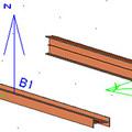 Comment faire pivoter la section d'un élément 1D?
